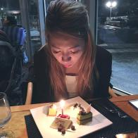 Birthday Girl blowing out her candles!