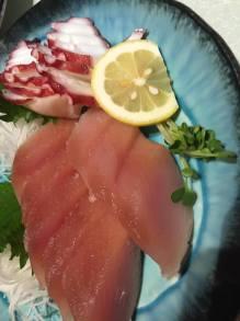 Tuna and Tako Sashimi