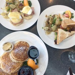 Pancakes, Eggs Benedict, Egg Sandwich