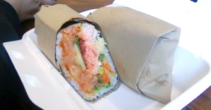 The Burrito with Sushi Ingredients
