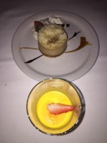 Vanilla Bean Panna Cotta +Caramel Apple Cheesecake