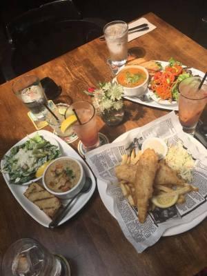 2 Soup & Salads, 1 Fish & Chips