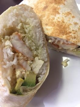 Shrimp & Avocado Burrito